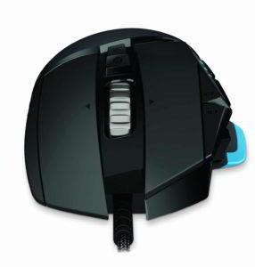 Frontale e rotellina del mouse gaming G502 Proteus Core di Logitech