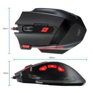 Dimensioni e misure del mouse da gioco VicTsing CA58B-vit
