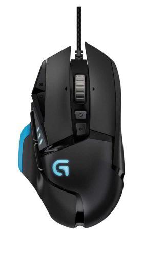 Foto dall'alto del mouse da gaming con filo Logitech G502 Proteus Core