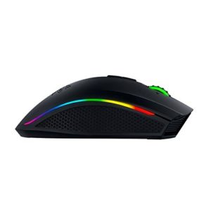 Foto laterale del mouse gaming Razer Mamba