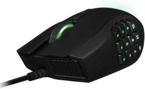 Razer Naga mouse da gaming, vista frontale