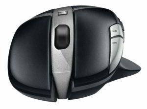 Rotellina e click frontali del mouse da gioco G602 Logitech senza fili