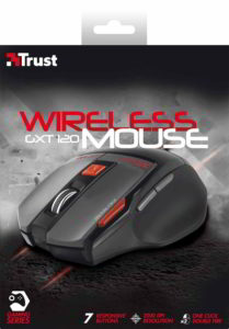 Scatola (fronte) del mouse da gaming Trust GXT 120