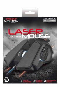 Fronte della scatola del mouse Trust GXT 158