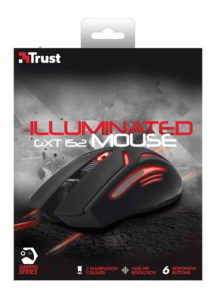 Scatola (vista frontale) del mouse gaming GXT 152 Trust