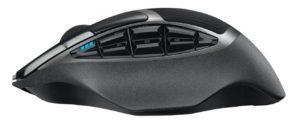 Vista laterale del mouse Logitech G602 e tasti programmabili