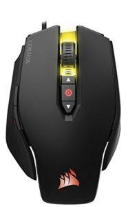 vista aerea del mouse da gioco corsair m65 rgb pro
